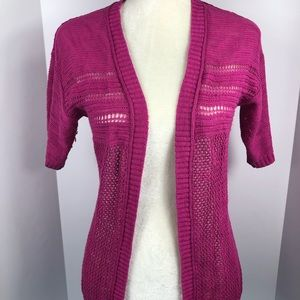 Mossimo 3/4 sleeve cardigan size small EUC purple